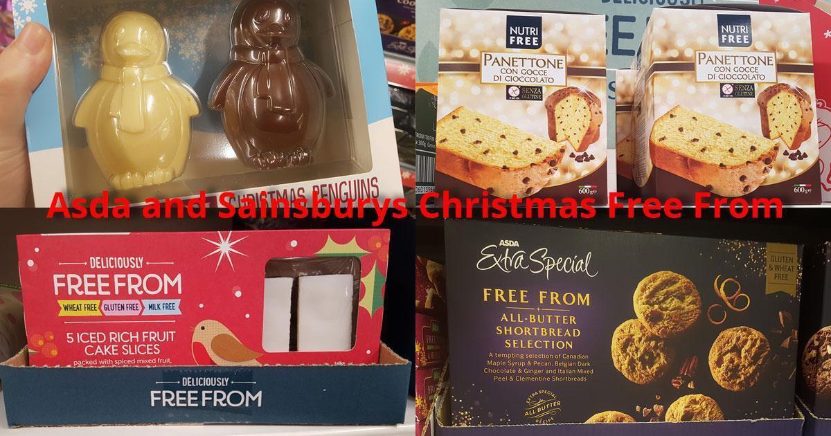Asda and Sainsburys Christmas Free From