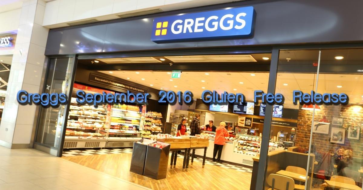Greggs September 2016 Gluten Free Release