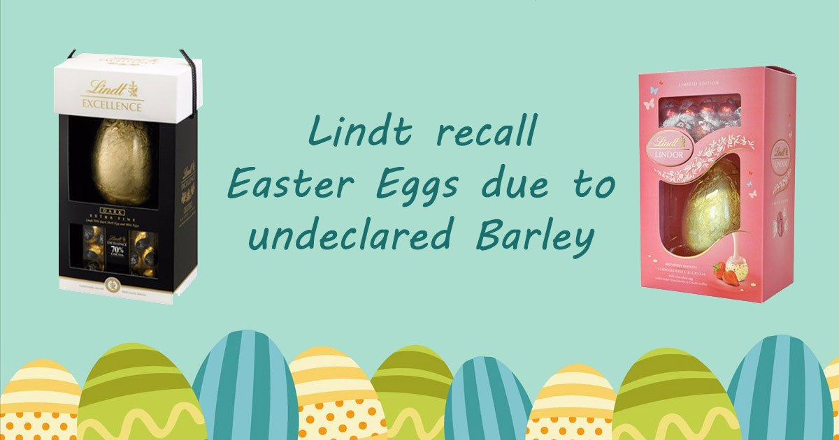 Lindt Recall Easter Eggs Due To Undeclared Barley