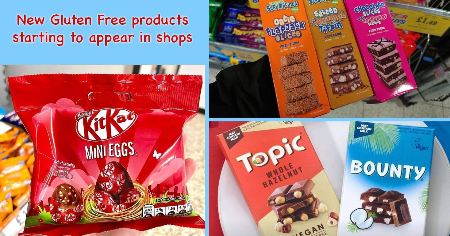 New gluten free products in shops, including KitKat Easter Eggs