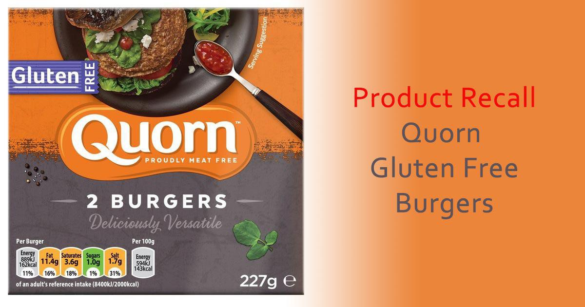Product Recall: Quorn Gluten Free Burgers