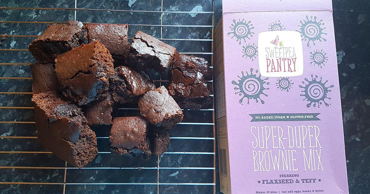 Sweetpea Pantry Super Duper Brownie Mix   Product Review